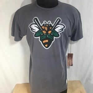 Augusta Green Jackets MLB XL Gray T Tee Shirt
